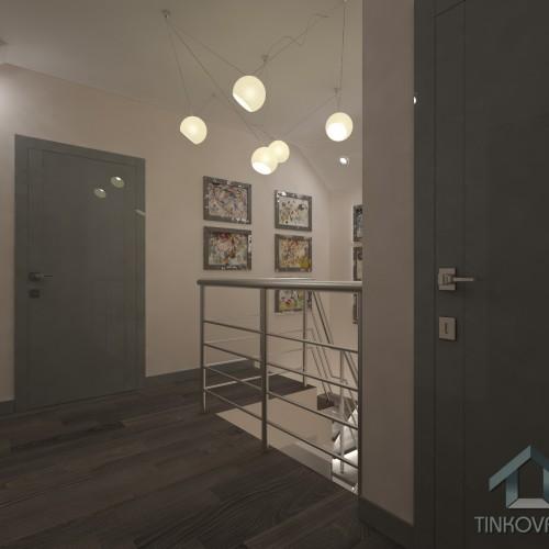 Дизайн холла на 2-ом этаже в доме