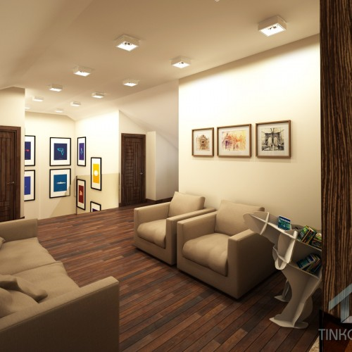 Дизайн мансардного этажа в таунхаусе