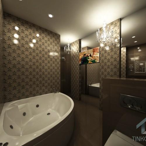 Дизайн ванны в стиле барокко