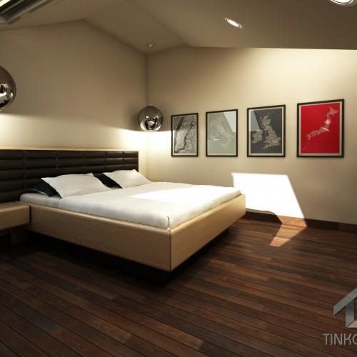 Интерьер гостевой спальни в таунхаусе