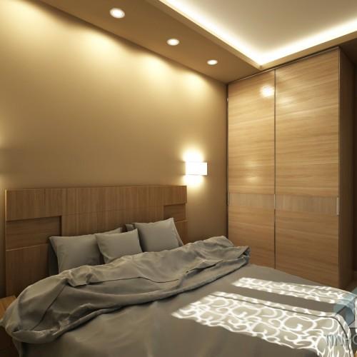 Интерьер спальни в 3-х комнатной квартире