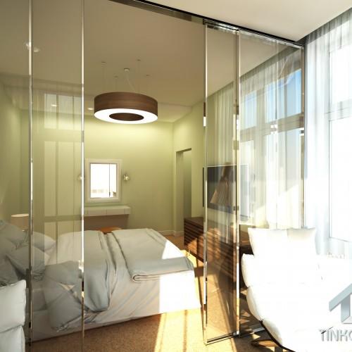 Интерьер спальни с зоной отдыха