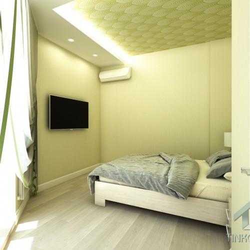 Интерьер спальни в Звенигороде