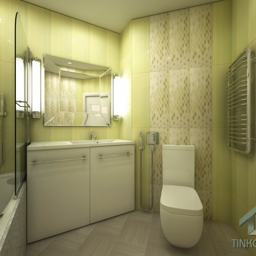 Интерьер ванной в плитке FAP