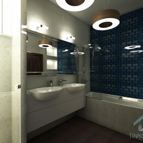 Интерьер ванной в таунхаусе