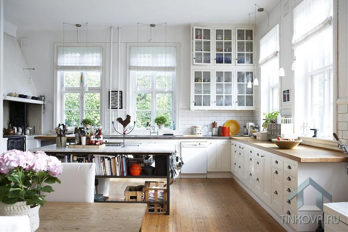 Кухня-столовая в скандинавском стиле